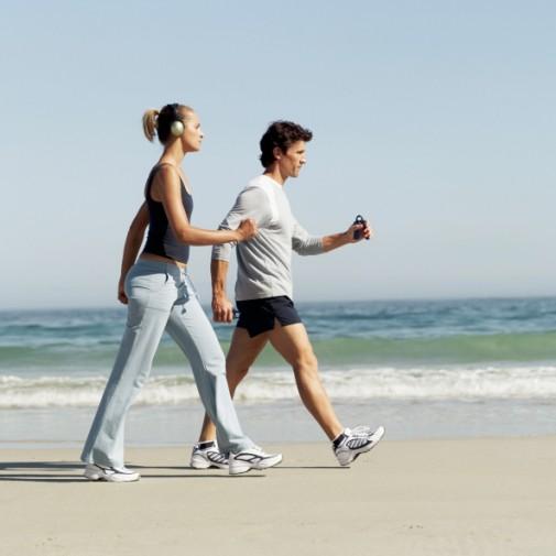 Brisk walking as good as running