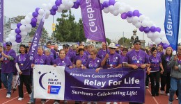 Relay for Life participants walking for a cause