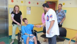 Peds patients get a surprise visit
