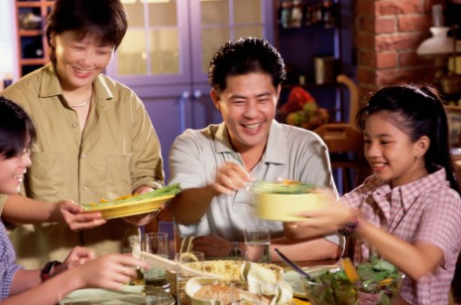 Can eating at the table lower your BMI?