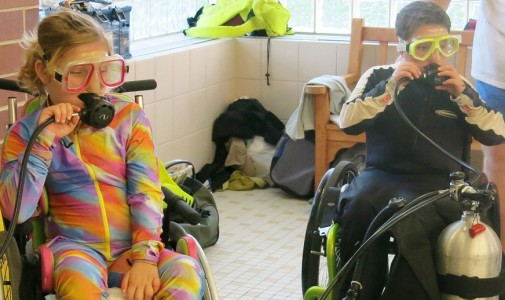 Deb Dudek gives back by teaching disabled youth and adults how to scuba dive, including many children with spinal cord injuries.