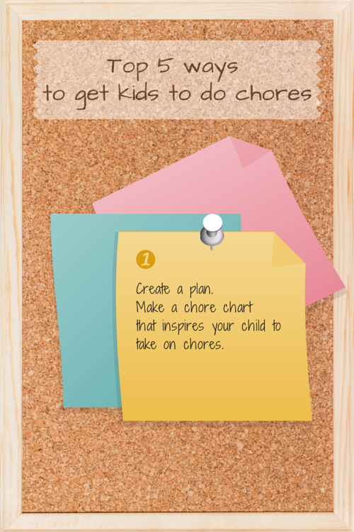 Infographic: 5 ways to get your kids to do chores