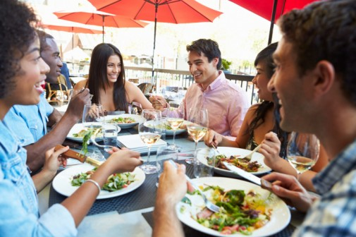 How much you eat may depend on who you're with
