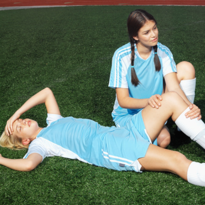 Female athletes are at increased risk for injuries