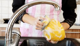 If you're feeling nervous, wash the dishes