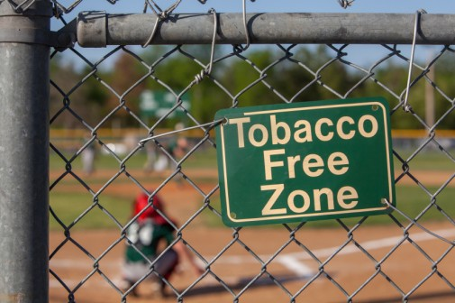 No more chewing tobacco at the ballpark