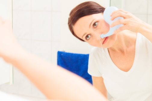 How do you spell congestion relief? Neti Pot