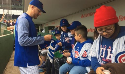 Kids in Dugout Autographs