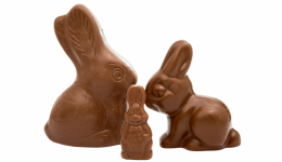 How do you eat a chocolate bunny?