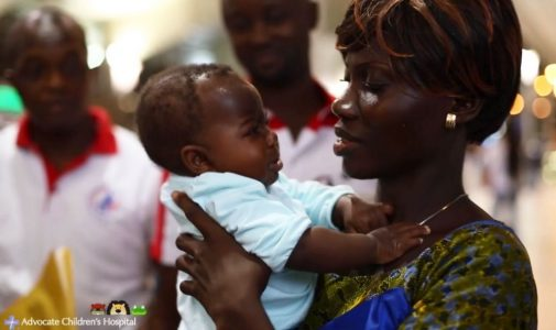 Video: Baby Dominique reunites with family in Africa