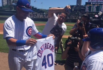 Cubs' Willson Contreras surprises boy with Down syndrome for 10th birthday