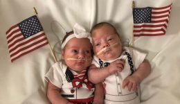 Tiny babies celebrate July 4 in red, white and blue