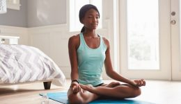 Yoga poses for promoting lung health