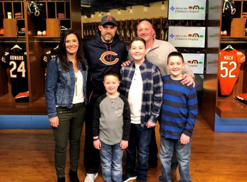 13-year-old in remission from cancer gets surprise day with Chicago Bears